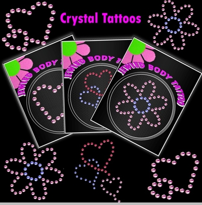 Rhinestone Crystal Tattoos (3 Pack)<!-- Click to Enlarge-->