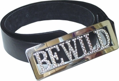 Rhinestone Personalized  Belt Buckle with Belt