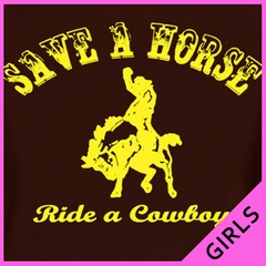 Ride A Cowboy Girls T-Shirt