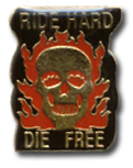 Ride Hard Die Free Lapel Pin