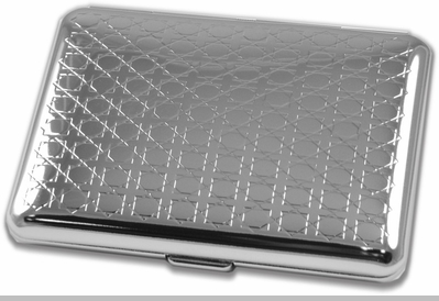 Ritzy Chrome Cigarette Case (For King Size Only)<!-- Click to Enlarge-->