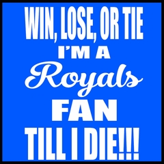 Royals Fan Till I Die Mens T-shirt
