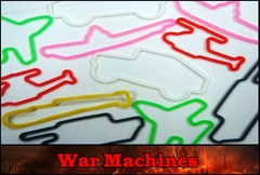 Rubba Bands - War Machines Shaped Rubber Band Bracelets