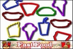 Rubba Bandz - Fast Food Fun Shapes Rubber Band Bracelet (12 Pack)