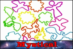 Rubberband Bracelets - Mystical Fun Shapes Rubber Band Bracelet (12 Pack)