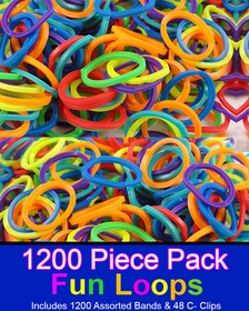 Rubberband Looms Assorted Colors - (1200 bands)