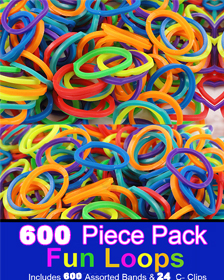 Rubberband Looms Assorted Colors - (600 bands)