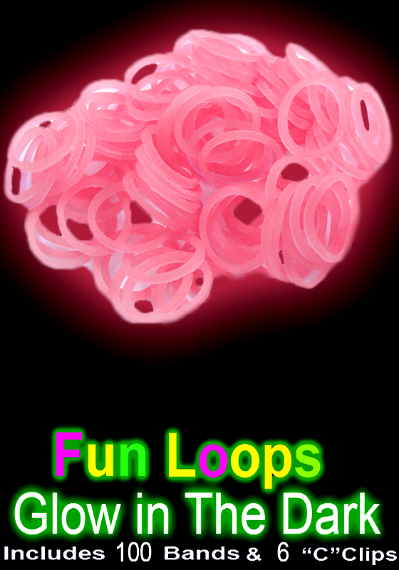 Rubberband Looms Glow In The Dark Bands Refill Kit 100