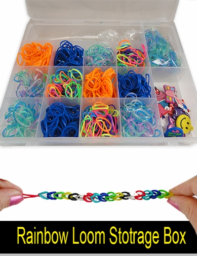 Rubberband Looms Rubber band and Accessory Storage Box<!-- Click to Enlarge-->