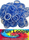 Rubberband Looms - Tie Dye Bands Refill Kit (100 Pieces) - Blue Tie Dye