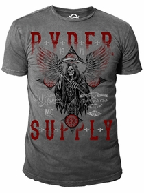 Ryder Supply Clothing - Cross Mens T-shirt (Charcoal Grey)
