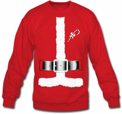 Santa Claus Christmas Costume Men's Crew Neck Sweatshirt