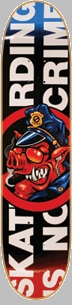 Santa Cruz Sk8ing Not A Crime Skateboard Deck<!-- Click to Enlarge-->