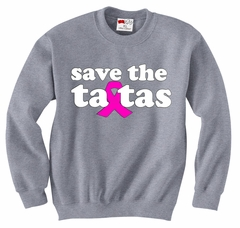 Save The Ta Tas Breast Cancer Awareness Adult Crewneck