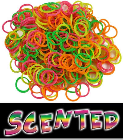 Scented Rubberband Looms Refill Kit (100 Pieces) - Rainbow<!-- Click to Enlarge-->