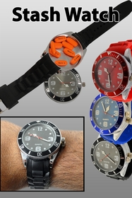 Secret Hidden Stash Watch -  2 in 1 Watch with Secret Storage Compartment