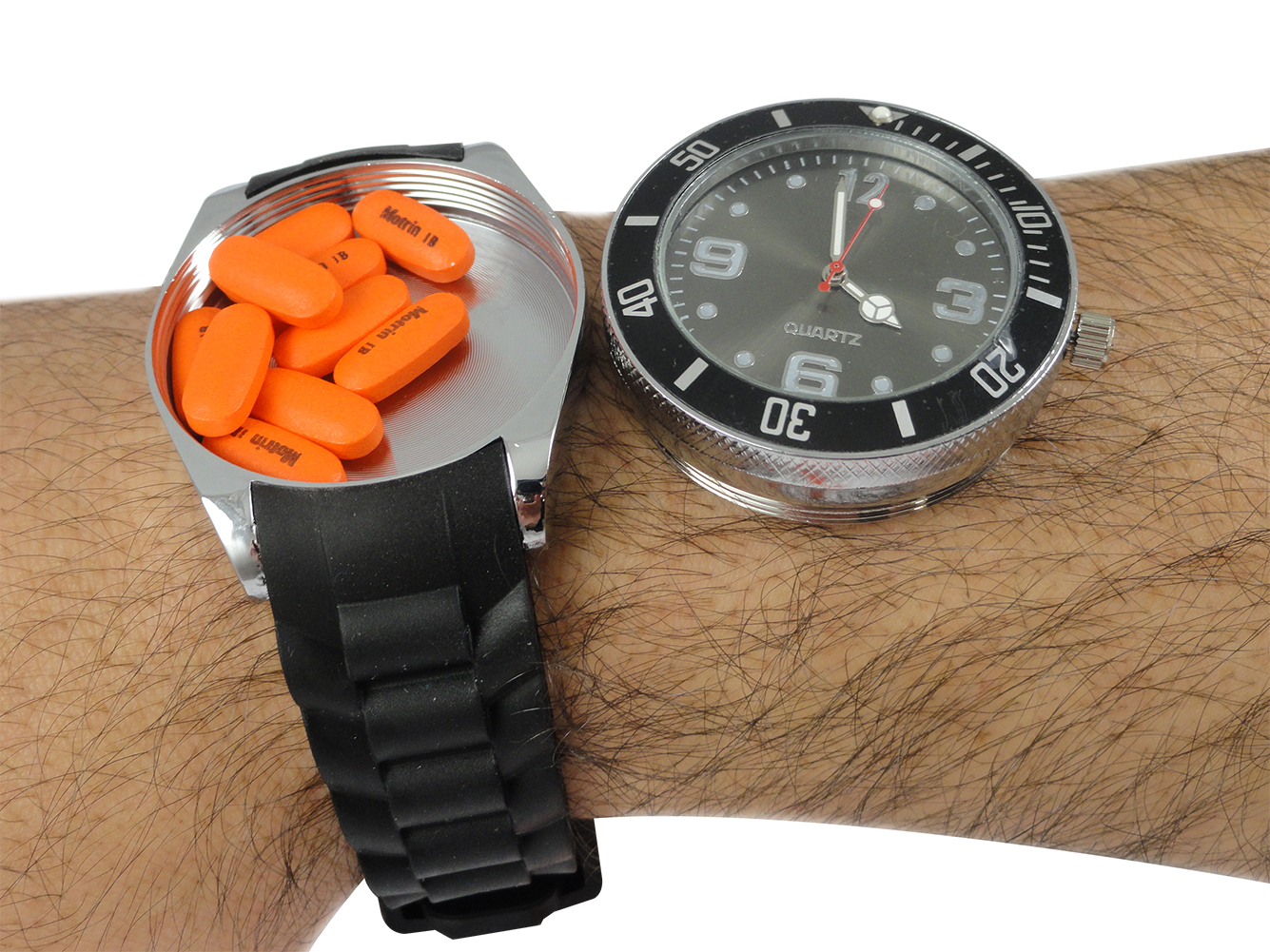 Secret Storage secret hidden stash watch - 2 in 1 watch with secret storage