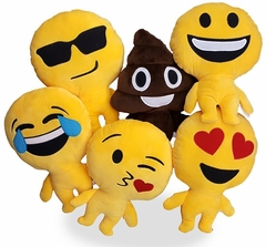Set of 3 Emoji Man - Cute Adorable Soft Lovable Emoji Plush Pillow with Legs