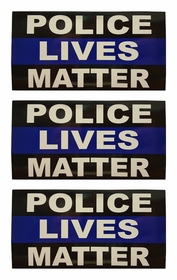 Set of 3 The Thin Blue Police Lives Matter Vinyl Bumper or Window Stickers
