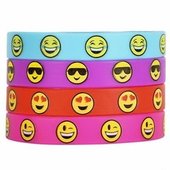 Set of 36 Emoji Smile Emoticon SILICONE WRISTBAND BRACELETS