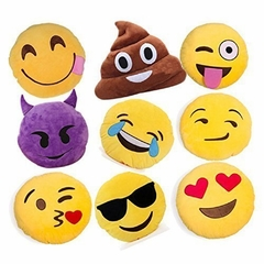 "SET OF 8 Emoji Pillows 11"" - 12'' Inch Large Yellow Smiley 28cm - 32cm Emoticon"