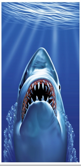 Shark Bite Beach and Bath Towel (30 x 60 Inches)<!-- Click to Enlarge-->