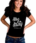 She Is Strong Proverbs 31:25 Girl's T-Shirt