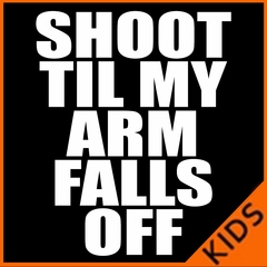 Shoot Til My Arm Falls Off Basketball Kids T-shirt