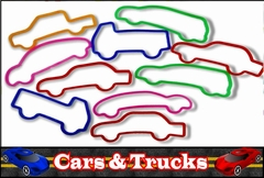Silly Car Shaped Rubba Bandz (12 Pack)