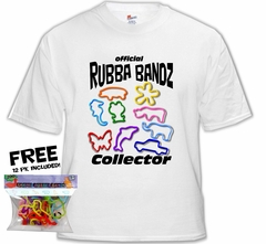 Silly Shaped Rubba Bandz Fan Club T-Shirt With FREE Pack of Animal Bands