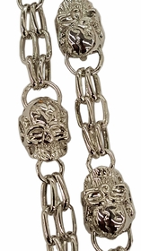 Silver Skull of Death Jean and Wallet Chain