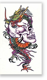 Skull And Dragon  Temporary FakeTattoo