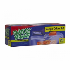 "Smell Proof Bags - Box of 25 Small 6"" x 4"" Clear Bags"