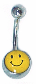 Navel Body Jewelry - Smiley Face Navel Jewelry