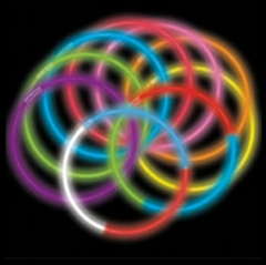 Snap & Glow Necklaces :: Multicolored Fun Pack (10 Pack)