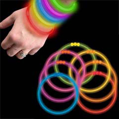 """Snap & Glow"" Super Bright  Glow Stick Bracelets Only 20¢ each (50 pack)"