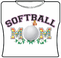 Softball Mom Girls T-Shirt