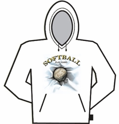 Softball Play Hard Hoodie