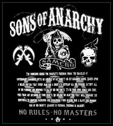 "Sons Of Anarchy ""No Rules, No Masters"" Men's T-Shirt"