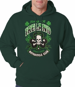 Sons of Ireland Shamrock Skull Biker Hoodie