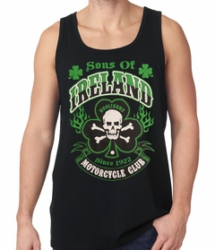 Sons of Ireland Shamrock Skull Biker Tanktop