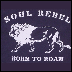 Soul Rebel Born to Roam Men's T-Shirt (Navy)