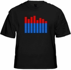 Sound Equalizer Rave T-Shirt With Sound Sensor (Red / Blue)