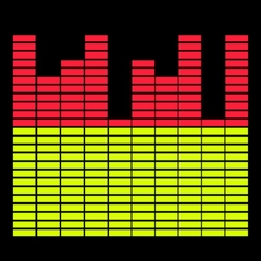 Sound Equalizer Rave T-Shirt With Sound Sensor (Red / Yellow)