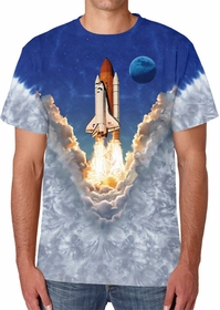 Space Shuttle Tie Dye T-Shirt