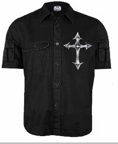 Spiral Goth Work Shirt<!-- Click to Enlarge-->