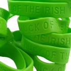 "St. Patrick's Day ""Luck Of The Irish"" Silicone Rubber Bracelets (Set Of 12)"