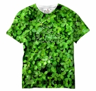 St. Patrick's Day Shamrocks All Over Sublimation Print Mens T-Shirt