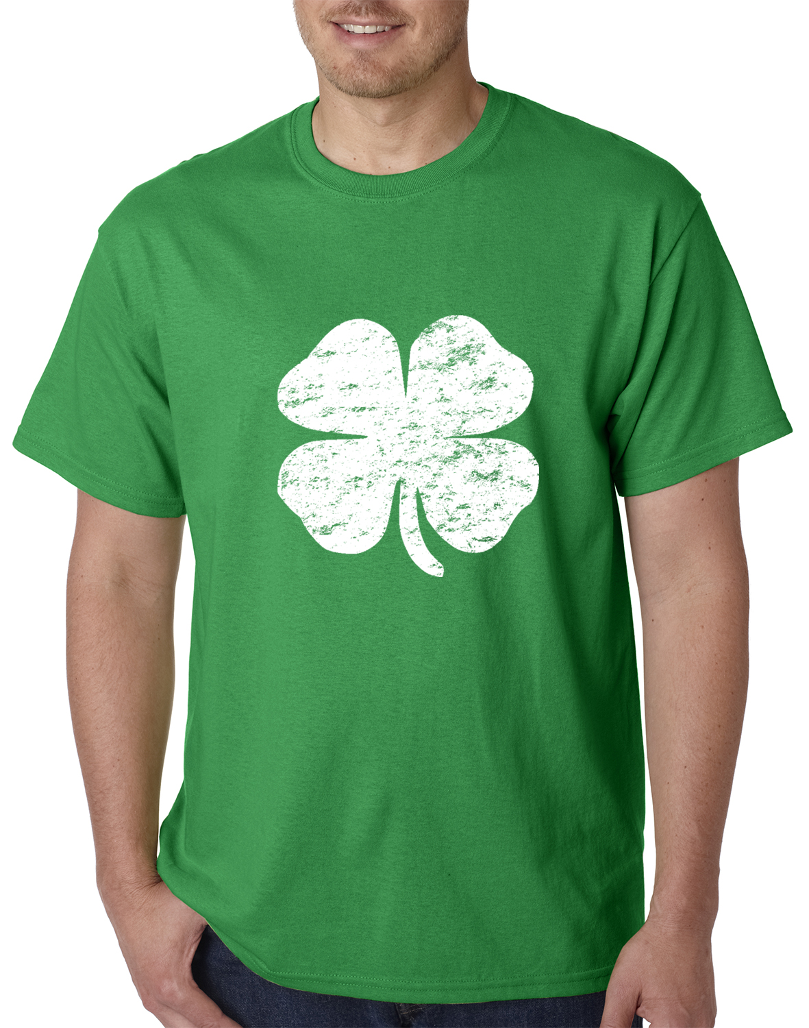 st patrick u0027s day vintage distressed 4 leaf clover mens t shirt