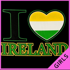 St. Patrick's Tees - I Love Ireland Girls T-Shirt